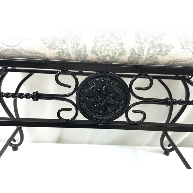 Wrought Iron Vanity Bench For Sale - Image 4 of 8
