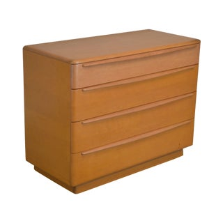 Heywood Wakefield Mid Century Modern Maple Champagne Finish Single Dresser For Sale