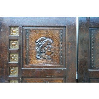 Renaissance Style Carved Double Doors W/ Sea-Glass Border Preview
