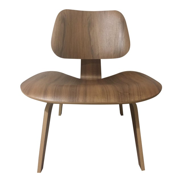 Eames Molded Plywood Lounge Chair LCW Walnut - Image 1 of 6