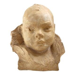Child Bust Sculpture For Sale