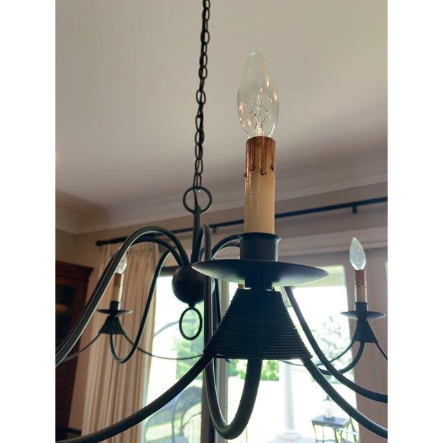 Visual Comfort Visual Comfort Venetian 7 Light Bronze Chandelier For Sale - Image 4 of 5