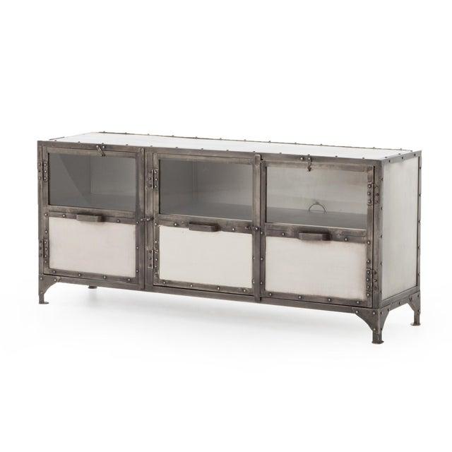 Silver Industrial Erdos + Ko Ellen Media Console Table For Sale - Image 8 of 8