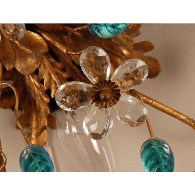 Banci 1970s Mid-Century Italian Murano Glass Sunburst Sconces, Venice - a Pair For Sale - Image 4 of 11