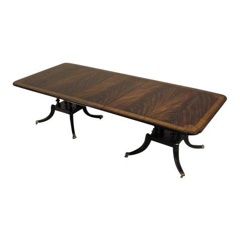 Maitland-Smith Regency Mahogany Double-Pedestal Table - Image 1 of 3