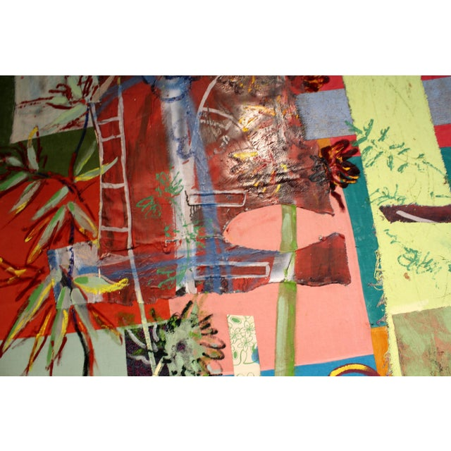 Acrylic Paint Jacques Lamy Multi-Media Abstract Painting For Sale - Image 7 of 7