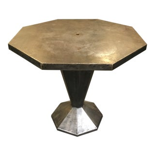 Industrial and Sculptural Welded Steel Octagon Table