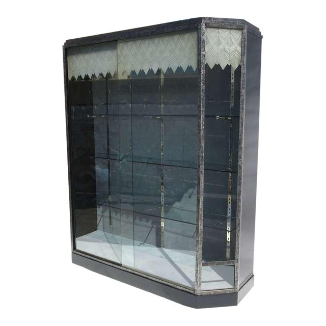 Art Deco Showcase With Lalique Glass Doors For Sale - Image 11 of 11