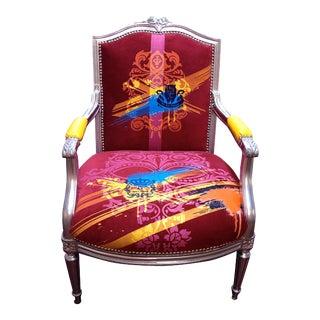Red Velvet Arm Chair