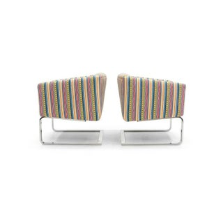 Modern Milo Baughman Chrome Frame Club Chairs or Barrel Chairs - a Pair Preview