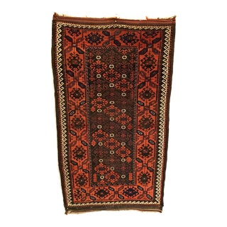 Late 19th Century Antique Persian Baluch Rug-3′2″ × 5′5″ For Sale