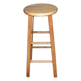 Plain Solid Wooden Kitchen Stool For Sale