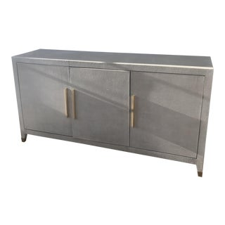 Restoration Hardware Metallic Gray Cabinet For Sale