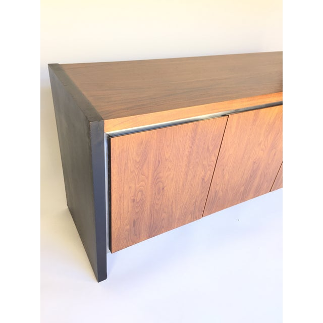 Milo Baughman for Dillingham Walnut Credenza - Image 3 of 6