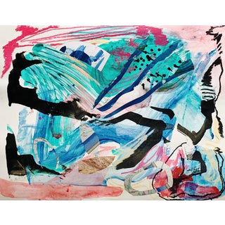 Abstract Contemporary Mixed-Media Painting on Paper For Sale