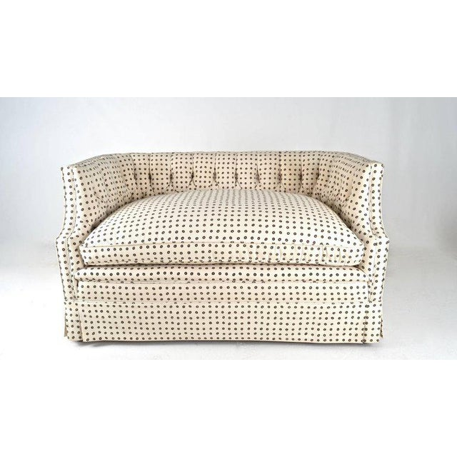 Vintage Tufted Back Loveseat - Image 2 of 9