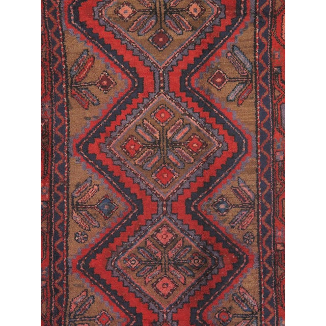 "Vintage Hamadan Wool Area Rug - 5'5"" X 9'1"" - Image 2 of 3"