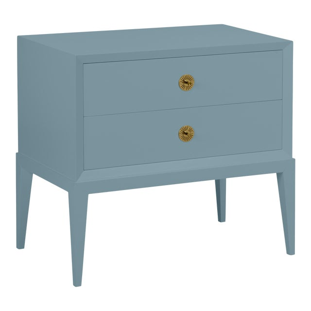 Casa Cosima Hayes 2-Drawer Side Chest, Chiswell Blue For Sale
