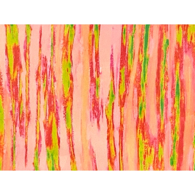 """Abstract Pink Green """"Enlightened Terrain"""" Artist's Print by Suga Lane For Sale - Image 4 of 13"""