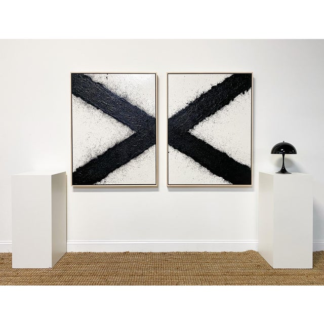 In Tar series. Art Dimensions: 36 w x 48 h inches, each panel Framed Dimensions: 37.5 x 49.5 inches, each panel Beautiful,...