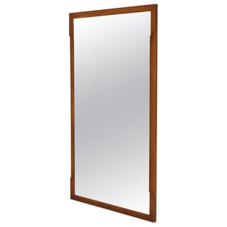 Mid-Century Modern Walnut Rectangular Mirror by John Stuart For Sale