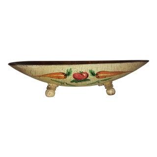 Primitive Wooden Harvest Bowl