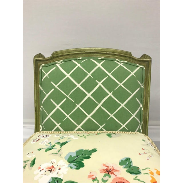 French Style Green-Painted Slipper Chairs - A Pair - Image 8 of 13