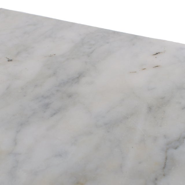 Mid 20th Century Carrera Marble Hairpin Table For Sale - Image 5 of 7