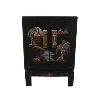 20th Century Chinoiserie Cabinet Nightstand For Sale