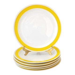 Late 20th Century Rosenthal Exotic Yellow Dinner Plates - Set of 6 For Sale