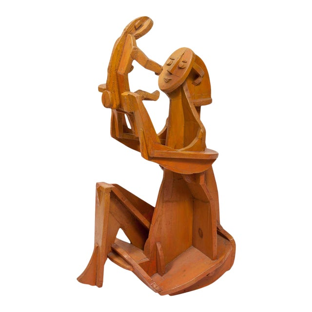 Sculpture of Mother and Child For Sale