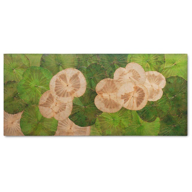 Contemporary Thai Lotus Leaf Wall Hanging For Sale - Image 4 of 4