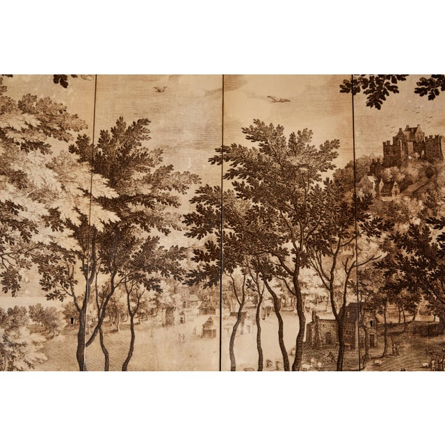 Four-Panel Screen in the Manner of Fornasetti For Sale In Los Angeles - Image 6 of 9