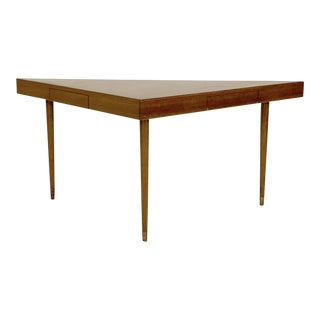 1950s Mid-Century Modern Harvey Probber Mahogany Triangular Console Table