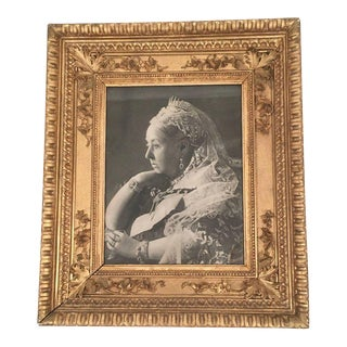 Late 19th Century Antique Portrait of Queen Victoria Framed Photograph For Sale