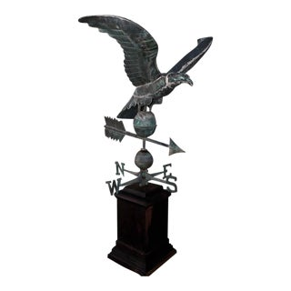 19th Century Monumental Full Body Eagle Weather Vane For Sale