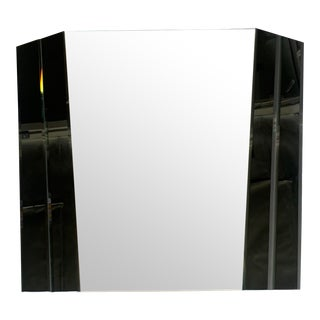 Large 1980s Two-Tone Wall Mirror For Sale