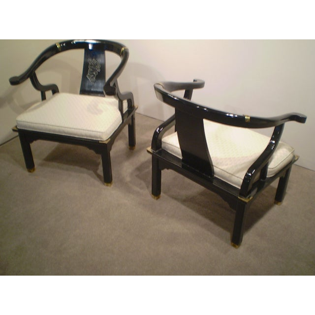 Chinese Lacquered Chippendale Chairs - A Pair - Image 4 of 6