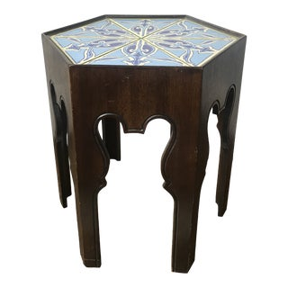 1930s Mid- Century Modern Drexel Ceramic Side Table For Sale