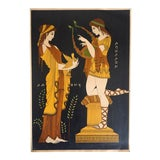 "Image of Vintage Mid-Century Greek Mythology "" Apollo & Daphne "" Original Lithograph Art Print For Sale"