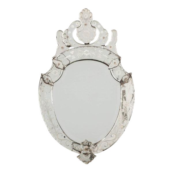 Late 19th Century Venetian Shield Form Wall Mirror For Sale