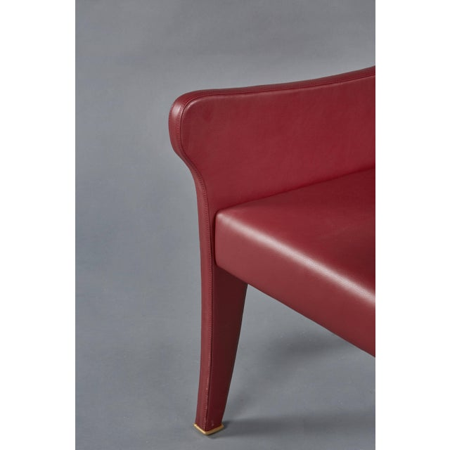 Animal Skin Pair of Ignazio Gardella Leather Chairs For Sale - Image 7 of 9