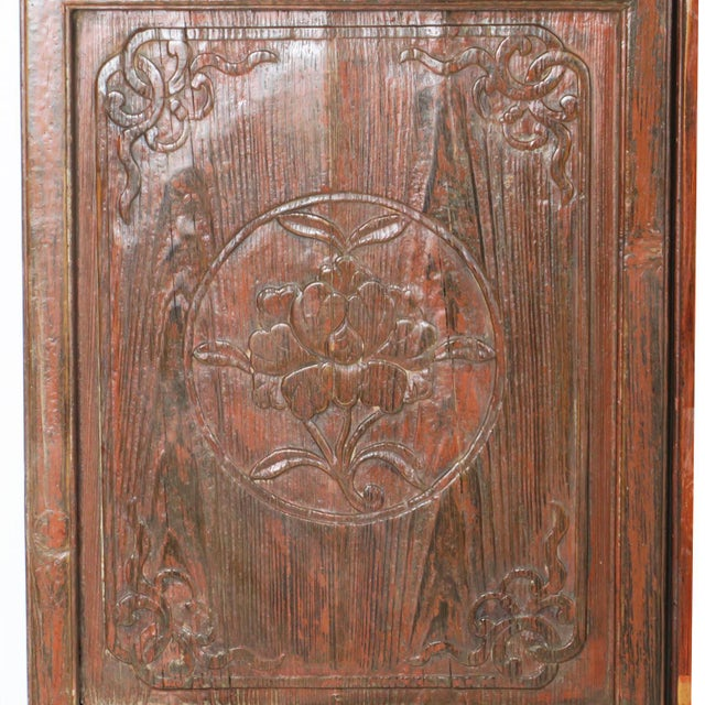 Wood Early 20th Century Antique Chinese Carved Courtyard Doors For Sale - Image 7 of 13