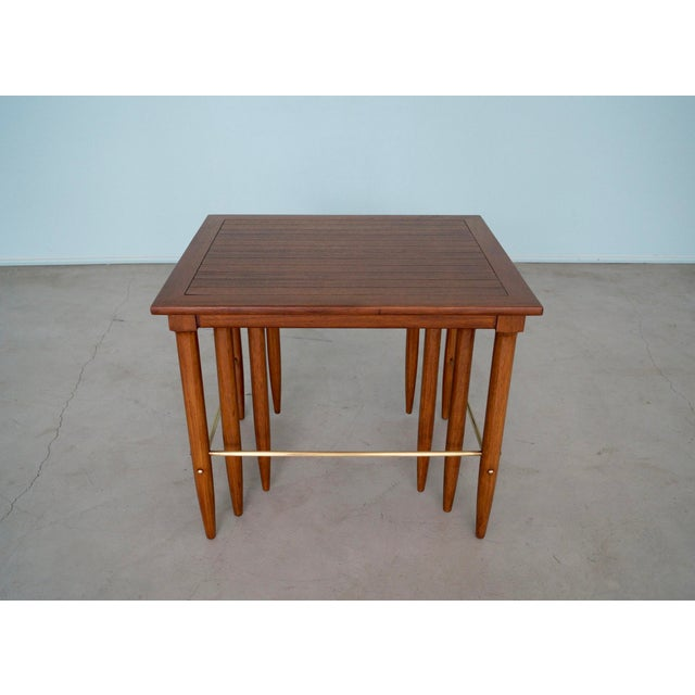 1950s Mid-Century Modern Tomlinson Nesting Tables - Set of 3 For Sale In Los Angeles - Image 6 of 13