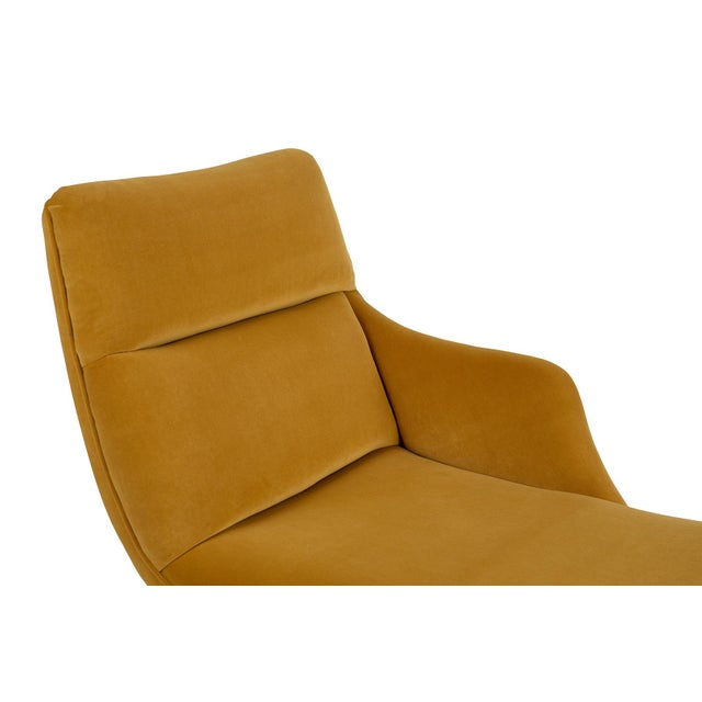 """1960s Vladimir Kagan """"Erica"""" Chaise in Yellow With Lucite Base For Sale - Image 5 of 7"""