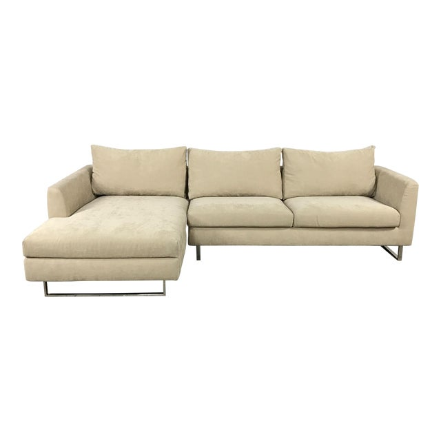 Modern Beige Sectional Sofa - Image 1 of 9