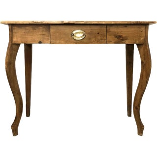 Vintage Country Farmhouse French Pine Table For Sale