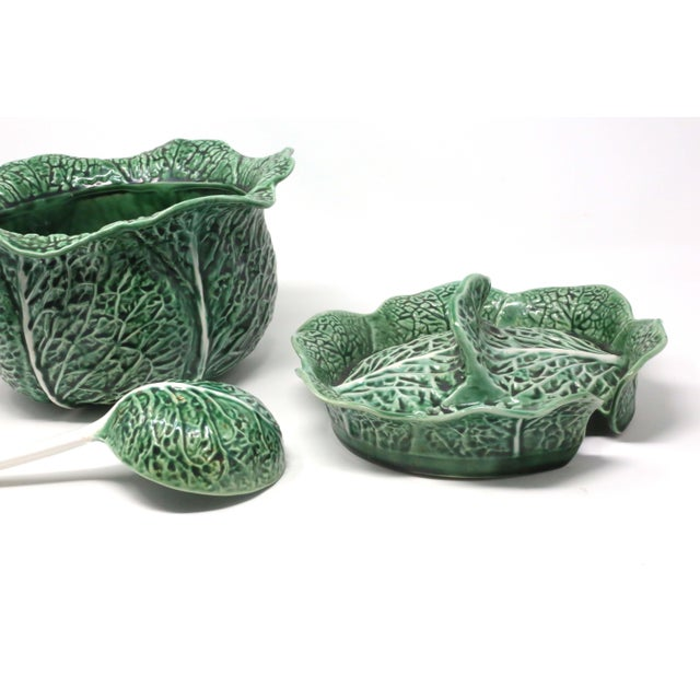 Vintage Secla Green Cabbage Soup Tureen Made In Portugal Set Of 3 Chairish