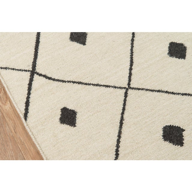 """Contemporary Erin Gates by Momeni Thompson Appleton Ivory Hand Woven Wool Area Rug - 3'6"""" X 5'6"""" For Sale - Image 3 of 8"""