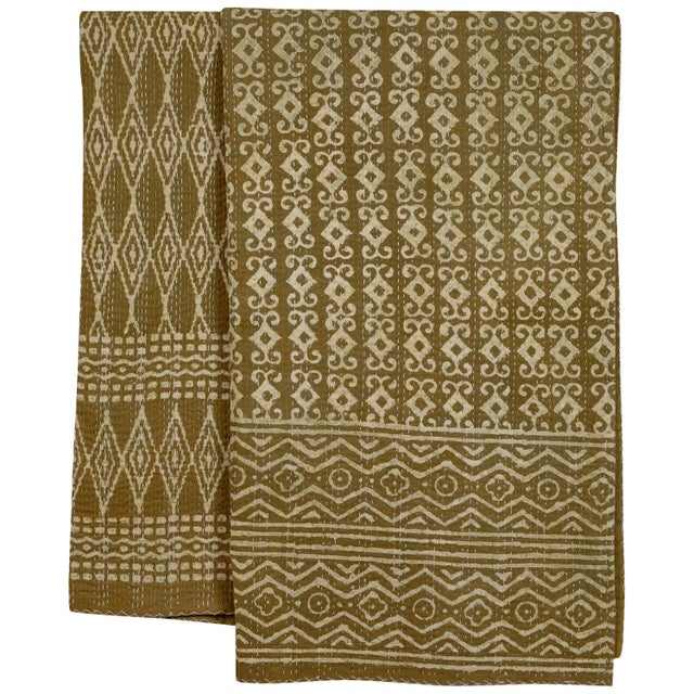 Textile Indian Kantha Quilt For Sale - Image 7 of 7
